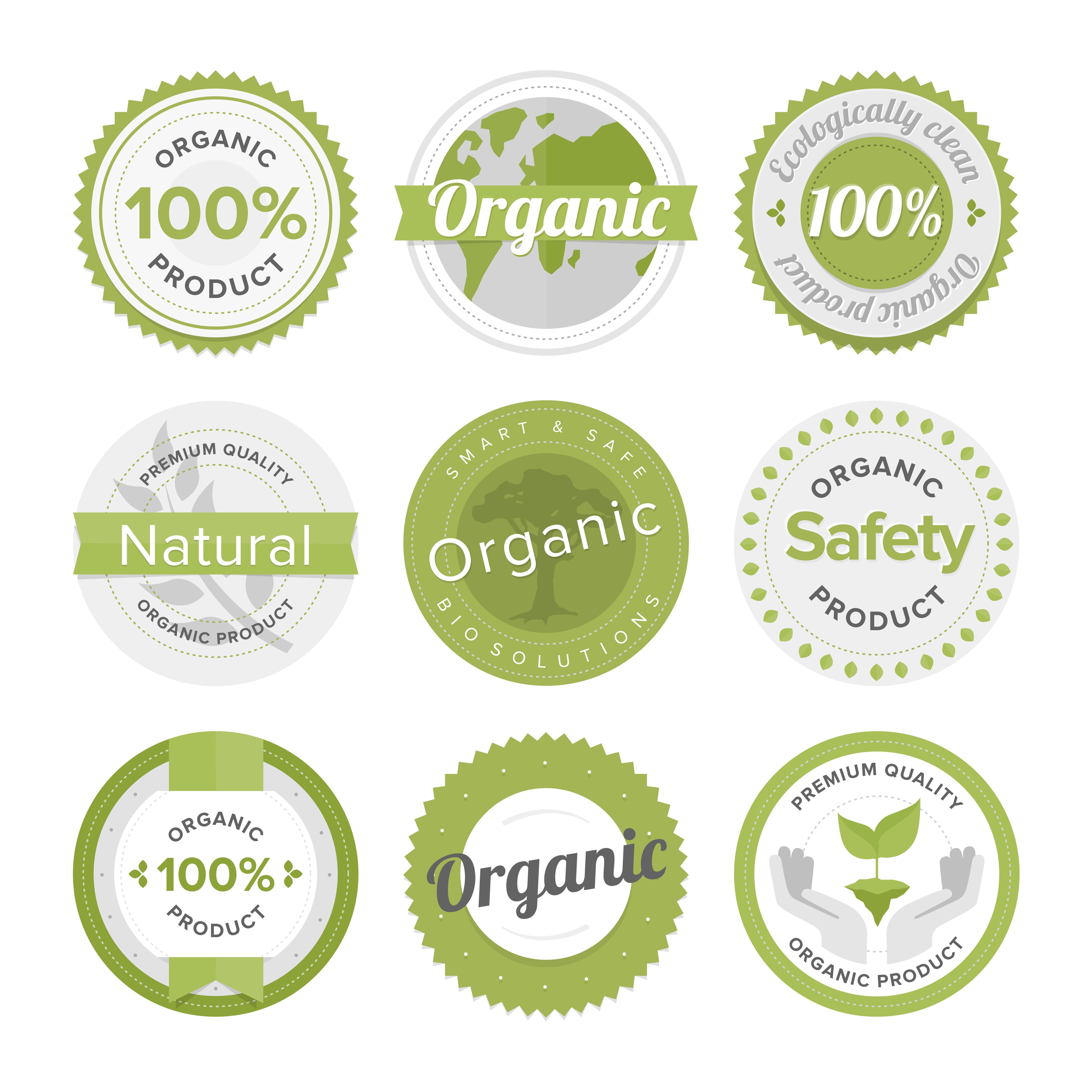Natural organic product label